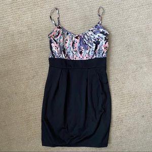 Mosaic Colour Silk Top Block Dress